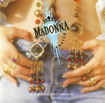 Madonna's hands - album cover: 'Like a Prayer' (1989).