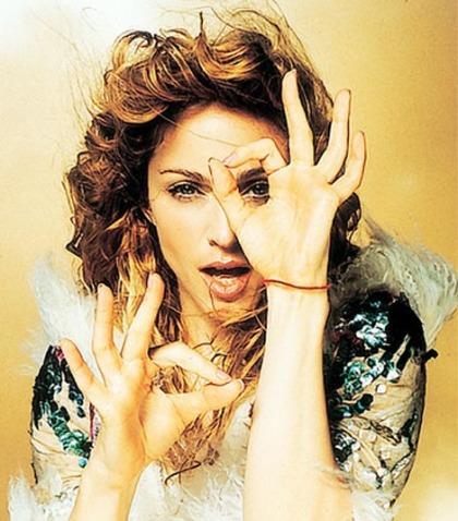 Madonna's hands.