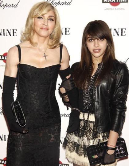 Madonna & her daughter Lourdes - both wearing hand gloves (march 2010)