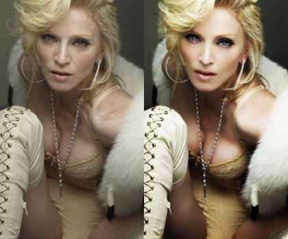 Madonna & the art of retouch: a famous example of how her 'looks' are created!