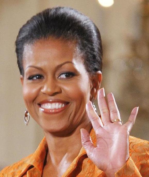 Michelle Obama Ring Finger Longer