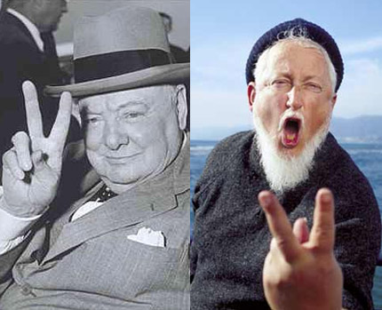 V-SIGN: The good, the bad, and ... the effect of middle finger length! V-sign-winston-churchill-fisherman